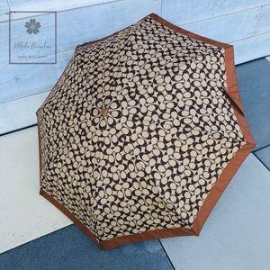 Coach - Signature Umbrella - Full Size - Khaki